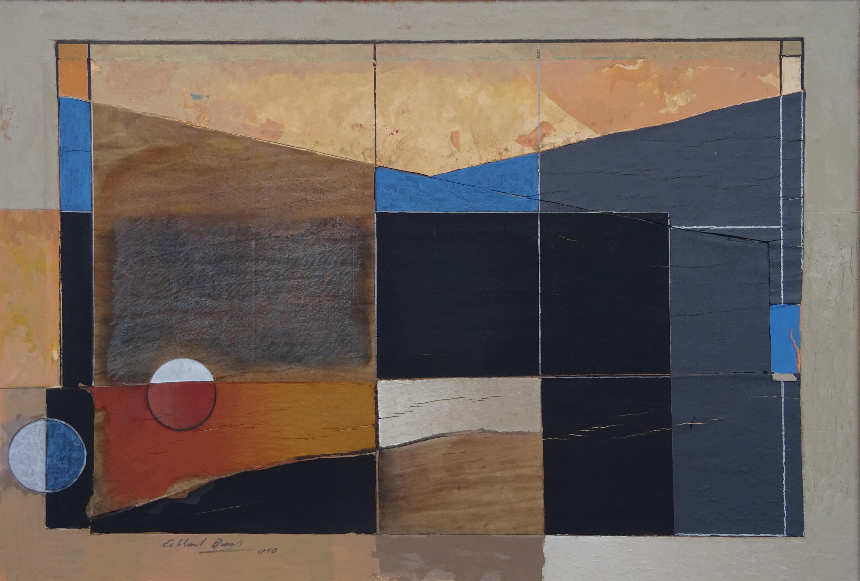 """""""Nicht von dieser Welt"""", Gemälde von Eckhard Brock, Ausstellung in der Galerie Neumühle in Edenkoben."""