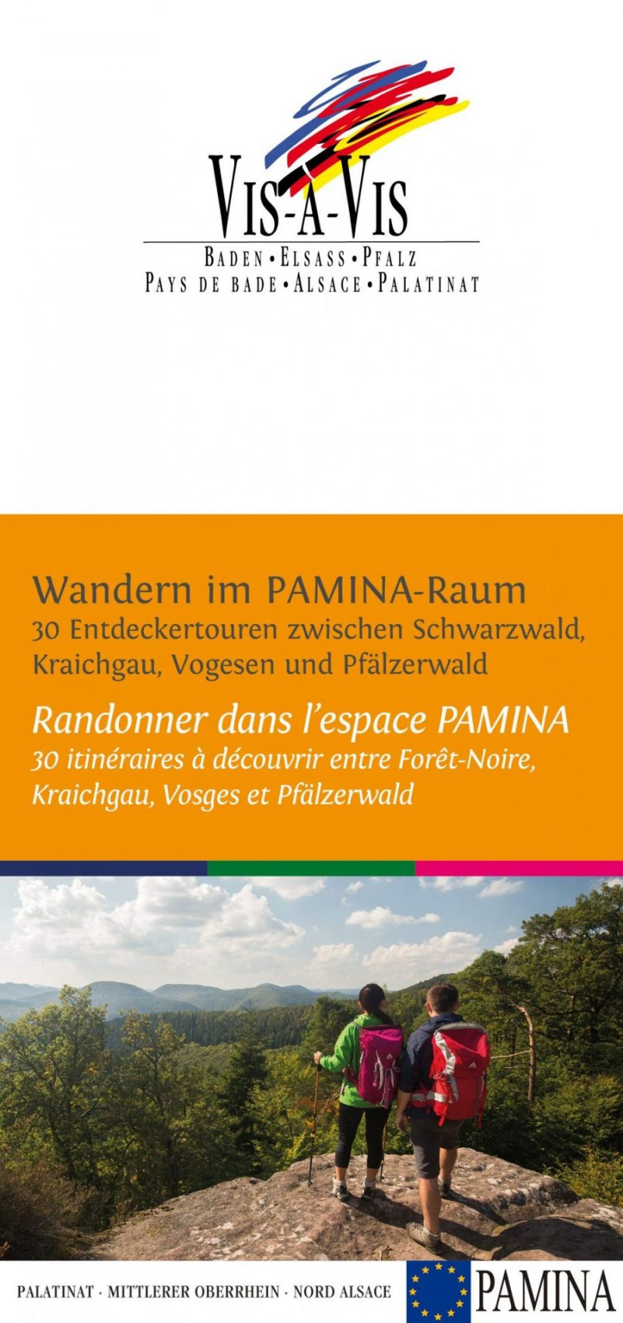 Wanderkarte VIS-á-VIS: Wandern im Pamina-Raum